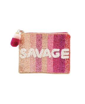 SAVAGE Beaded Coin Purse LAC-CP-1042