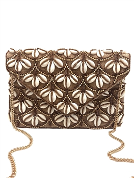 Shell Beaded Envelope Clutch LAC-SS-106