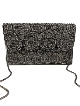 Party Partner Beaded Clutch LAC-SS-109 -Silver