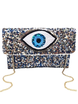 Evil Eye Beaded Clutch LAC-SS-127