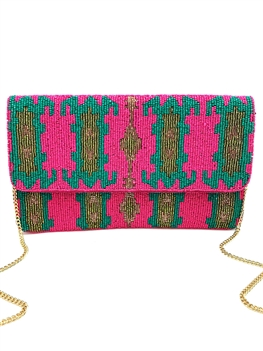 Fuchsia Mini Clutch Bag LAC-SS-131