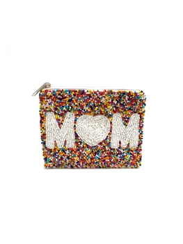 MOM Beaded Coin Purse  LAC-SS-174