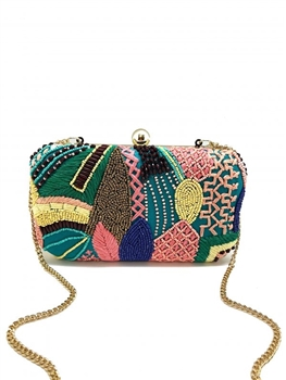 Green Springs Beaded Clutch Bag LAC-SS-224