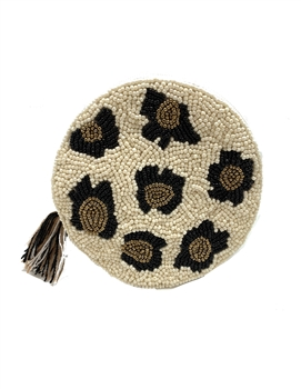 Round Cream Leopard Coin Purse LAC-SS-430