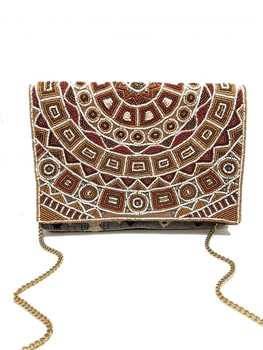 Sunshine Dream Beaded Envelope Clutch LAC-SS-7008