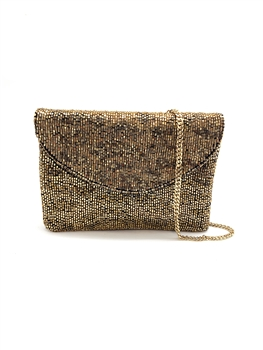Gold Leopard Mini Clutch Bag LMC-109