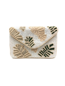 Leaf Beaded Clutch Bag LMC-221