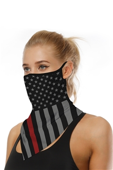 Printed Triangle Scarf Face Mask MASK-41 - NO.1