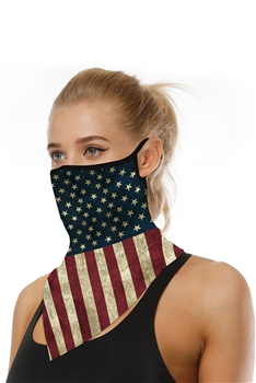 Printed Triangle Scarf Face Mask MASK-41 - NO.2
