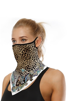 Printed Triangle Scarf Face Mask MASK-41 - NO.5