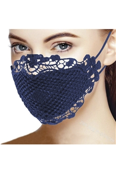 Lace Face Mask Mask-53 - Blue