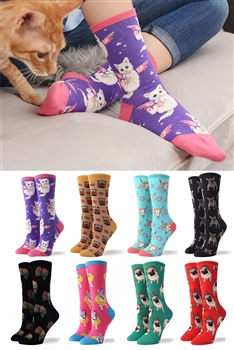 3 Pairs Animal Print Socks Set MIS0434