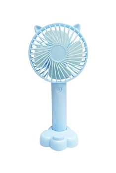 Cat Ears USB Mini Portable Fan MIS0438 - Blue