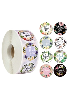 Floral Label Stickers MIS0446