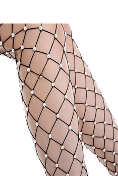 Pearl Mesh Stockings MIS0452