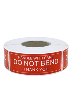 DO NOT BEND Label Stickers MIS0464