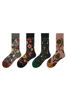 Flower Pattern Socks MIS0468