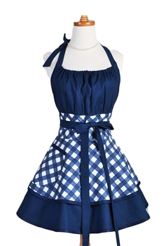 Kitchen Fashion Flirty Mother's Day Apron MIS0509 - Blue