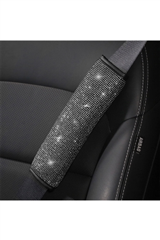 Rhinestone Seat Belt Shoulder Guard  MIS0532 - White