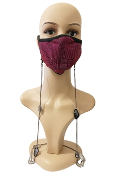Crystal Beads Metal Chain Mask Holder MN1125