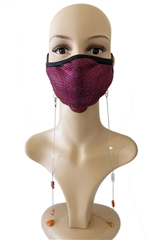 Metal Chain Beads Mask Holder MN1251 - Orange