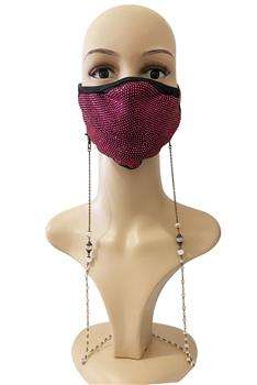 Metal Chain Mask Holder MN2186 - Gold