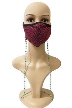 Stone Beads Mask Holder MN2220 - Green