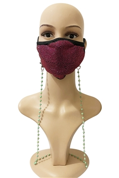 Stone Beads Mask Holder MN2220- Olive Green