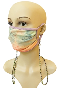 Crystal Beads Mask HolderMN2358 - Green