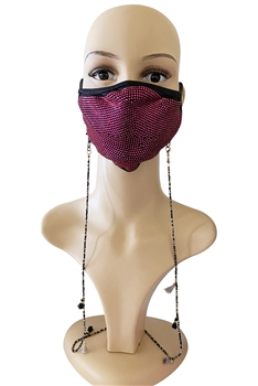 Seed Beads Mask Holder MN2938 - Black