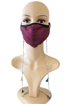 Seed Beads Mask Holder MN2938 - Blue