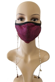 Seed Beads Mask Holder MN2938- White