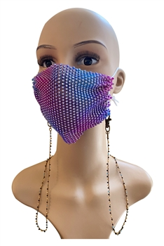 Seed Beads Mask Holder MN3066 - Brown