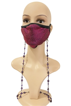 Blue Aventurine Mask Holder MN3174 - Amethyst