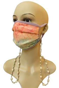 Pearl Beads Mask Holder MN3177 - Pink