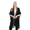 Lightweight Sheer  Poncho MSF1079-6- Black