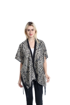 Leopard Print  Front Poncho MSF932-2