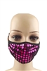 Square Rhinestone Mask MASK-20 - Rose Red