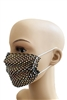 Grid Rhinestone Crystal Mask-2 - Black