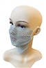 Grid Rhinestone Crystal Mask-4 - Blue