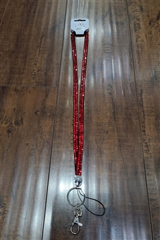 Crystal  Lanyard N0001- Red