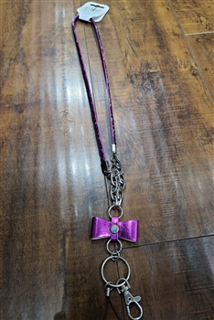 Bow Lanyard N0004 - Purple