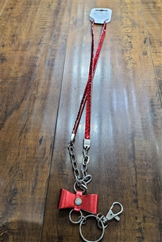 Bow Lanyard N0004 - Red