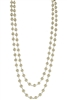 Brief Design Style Glass Crystal Long Necklaces N1073 - Champagne