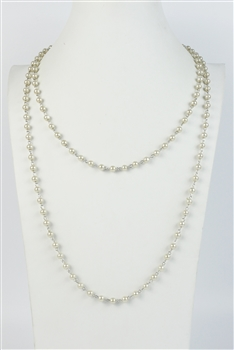 Brief Design Style Glass Crystal Long Necklaces N1073 - Champagne - 6MM