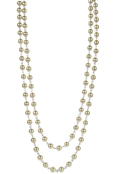 Brief Design Style Glass Crystal Long Necklaces N1073 - Champagne - 8MM