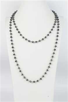 Crystal Simple Long Chain Necklaces N1163-13-8MM