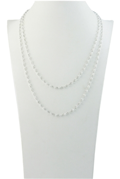 Chain Bead Plastic Crystal Necklaces N1163-35