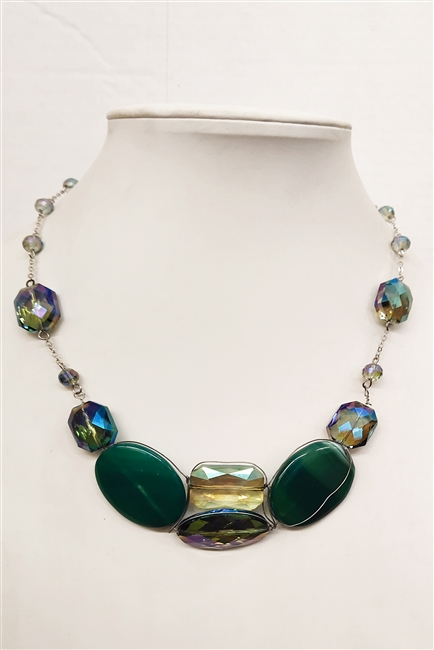 Stone Crystal Necklace N1415