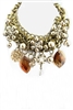 Stone Braided Crystal Necklace N1444